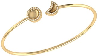 Lmj Moon Phases Cuff In 14 Kt Yellow Gold Vermeil On Sterling Silver
