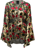 Anna Sui floral pattern blouse