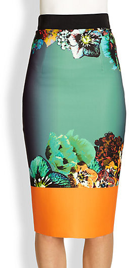 Milly Sea Blossom Pencil Skirt
