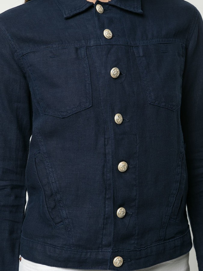 Thumbnail for your product : L'Agence Classic Collar Buttoned Shirt-Jacket