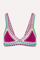 Kiini Coco Crochet-trimmed Triangle Bikini Top