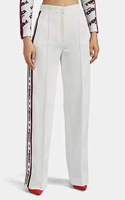"Fendi Women's Mania"" Ponte Wide-Leg Trousers - White"