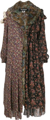 Comme des Garcons Junya Watanabe Pre-Owned panelled floral-print coat