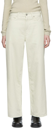 Our Legacy Off-White Full Cut Jeans