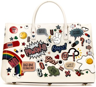 Anya Hindmarch All Over Embossed Print Shopping Bag