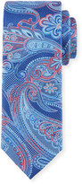 Bugatchi Paisley Silk Tie, Navy
