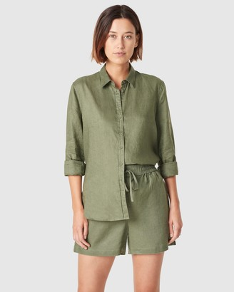 French Connection Women's Shorts - French Linen Relaxed Shorts - Size One Size, 14 at The Iconic