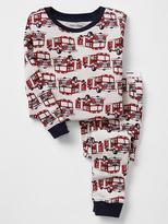 Firetruck print sleep set