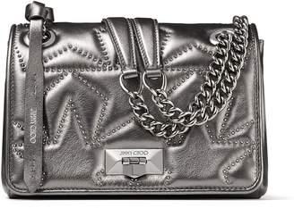 Jimmy Choo Small Metallic Leather Helia Shoulder Bag