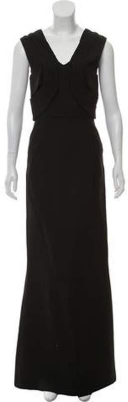 Fendi Sleeveless Maxi Dress Black Sleeveless Maxi Dress