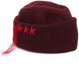 Golden Goose Deluxe Brand star embroidered fringed hat