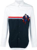 Iceberg Superman stripes shirt - men - Cotton - M
