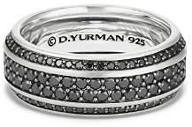 David Yurman Streamline Pavé Band Ring with Black Diamonds