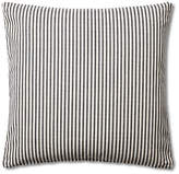 French Laundry Home Ticking 20x20 Cotton Pillow - Black