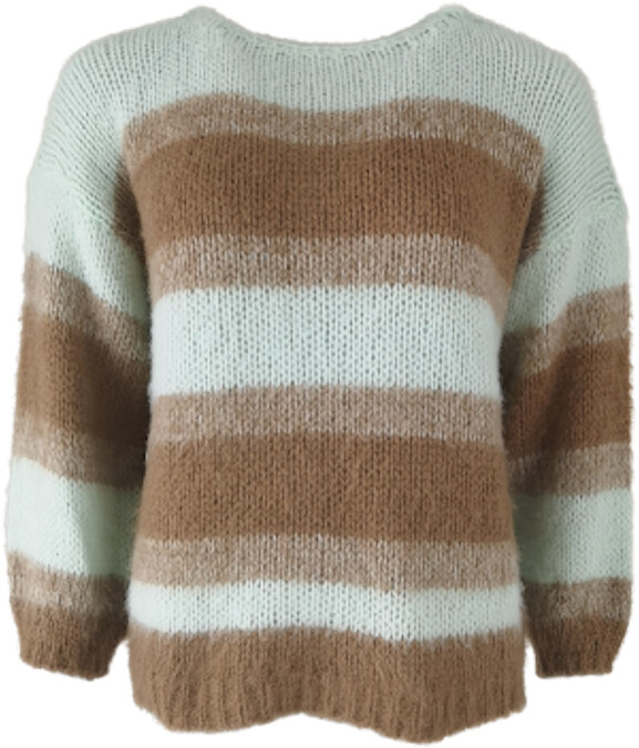 Thumbnail for your product : Margaux Mint Striped Boatneck Sweater
