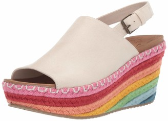 Skechers Women's Brit-Rainbow Jute High-Wedge Sling Back Slide Sandal