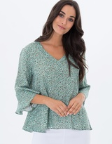 Privilege Petals Bells Sleeves Top