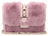 Valentino Garavani Lock Mini mink fur and leather shoulder bag
