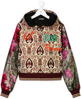 Dolce & Gabbana floral baroque hooded jacket