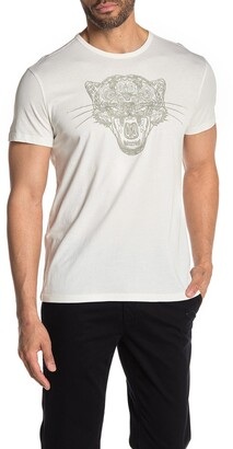 John Varvatos Embroidered Tiger Graphic T-Shirt