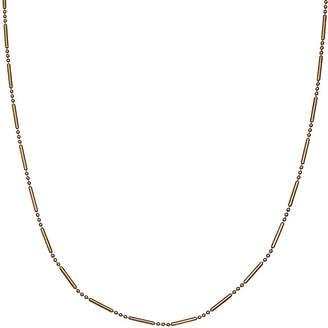 Silver Treasures Silver Reflections Gold Over Sterling Silver Bar & Bead Chain Necklace