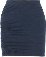 Splendid Ruched stretch-jersey mini skirt