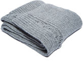 J.w. Anderson Men's Long Laddered Knit Scarf In Grey