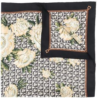 Salvatore Ferragamo floral Gancini print scarf