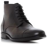 Bertie Black 'mos' Toe Cap Detail Lace Up Boot