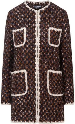 Dolce & Gabbana Contrasting Edges Long Tweed Jacket