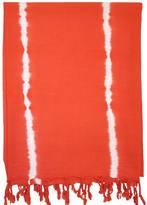 Turkish T Basic Breeze Tie-Dye Towel in Tangerine Tango