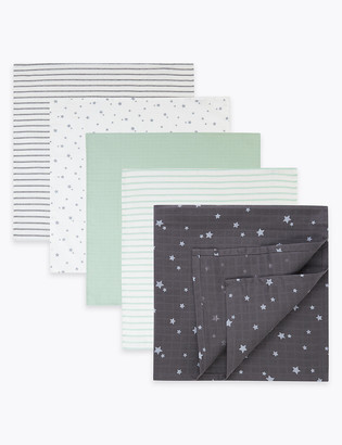 Marks and Spencer 5 Pack Cotton Muslin Squares