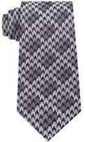 Sean John Men's Houndstooth Shadow Check Silk Tie