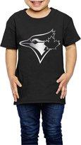 JESKD Little Girls' Toronto Blue Jays Platinum Logo 2-6 Toddler T-Shirt