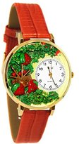 Whimsical Watches Women's G1210006 Strawberries Red Leather Watch
