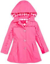 London Fog Ruffle Trench Coat, Little Girls