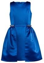 David Charles Blue Satin Double Layered Dress
