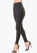 Bebe Velvet Striped Tux Leggings