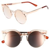 Quay Women's Fleur 49Mm Round Sunglasses - Rose/ Rose