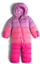 The North Face 'Lil Snuggler' Water Resistant Down Bunting (Baby Girls)