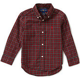 Ralph Lauren Little Boys 2T-7 Plaid Long-Sleeve Poplin Shirt