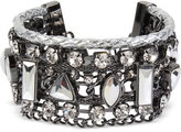 INC International Concepts Hematite-Tone Crystal Woven Cuff Bracelet, Only at Macy's