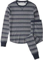 Joe Fresh Men's Fair Isle Waffle Sleep Set, JF Midnight Blue (Size S)