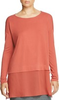 Eileen Fisher Mixed Media Silk Tunic