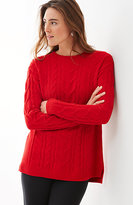 J. Jill Ultrasoft Chenille Cable Sweater