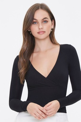 Forever 21 Plunging Surplice Top