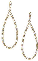 Nadri Open Teardrop Pave Earrings