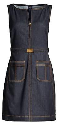 Tory Burch Women's Zip-Up Denim Dress