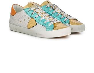 Philippe Model Kids TEEN croc-embossed sneakers