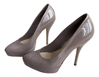 Gucci Grey Patent leather Heels